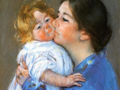 CMA 003 / Mary CASSATT / A Kiss For Baby Anne