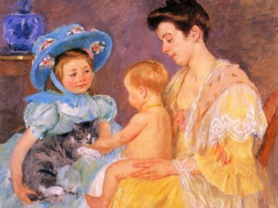 CMA 005 / Mary CASSATT / Children Playing With a Cat