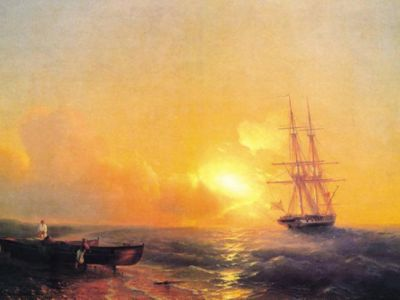 AIK 097 / Ivan Konstantinovich AIVAZOVSKY / Demir Atmış 26 Toplu Gemi, 1852