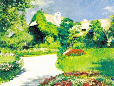 CGU 003 / Gustave CAILLEBOTTE / Trouville'de Çiftlik Evi, 1882