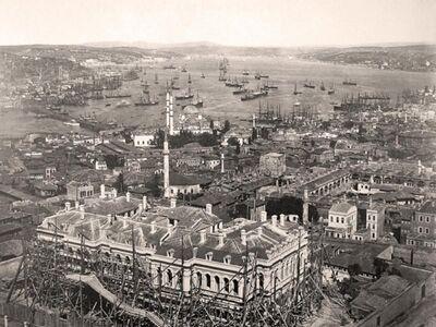 IST 023 / Anonim / Beyazıt Kulesinden Boğaziçi, 1868