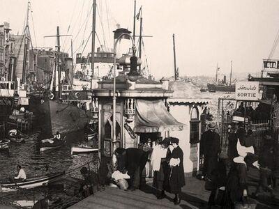 IST 025 / Anonim / Bridge Karaköy Pier, 1900