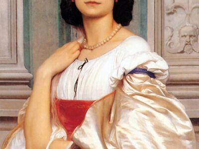 LFR 008 / Lord Frederick LEIGHTON / A Roman Lady La Nanna