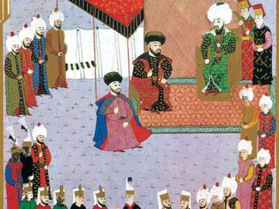 MHB 004 / Mehmed BEY / Mengli Giray Han Sefere Katılmak Üzere II. Beyazid Huzurunda