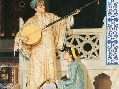 OHB 011 / Osman HAMDİ / İki Müzisyen Kız