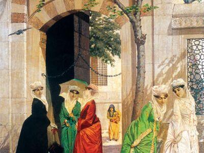 OHB 012 / Osman HAMDİ / Camii Önünde Kadınlar