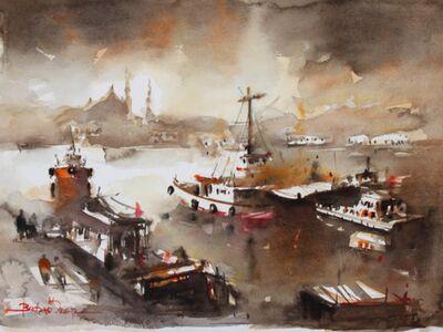 OZB 099 / Burhan ÖZER / Suluboya Tekneler ve İstanbul