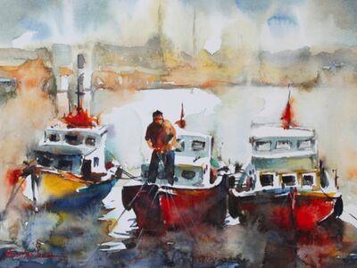 OZB 100 / Burhan ÖZER / Suluboya Tekneler ve İstanbul