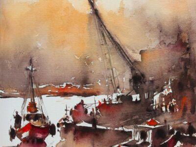 OZB 102 / Burhan ÖZER / Suluboya Balıkçı Tekneleri